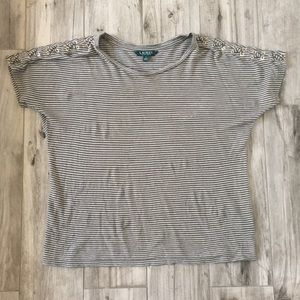 🆕 Ralph Lauren Stripped Top Size Small Small